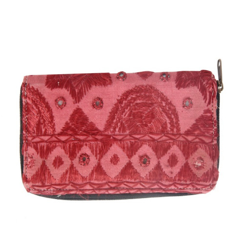 Rajasthani Jaipuri Traditional Multicolor Embroidered  Clutch Hand Bag Hand Purse(BABY PINK)