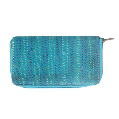 Rajasthani Jaipuri Traditional Multicolor Embroidered  Clutch Hand Bag Hand Purse(AQUA)
