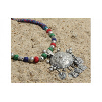 Jaipur Textile Hub Women's Traditional Silver Plated Oxidized Necklace