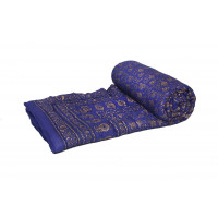 Indian Jaipuri Handmade Cotton Quilt Bed Cover Throw Blanket (VIOLET)