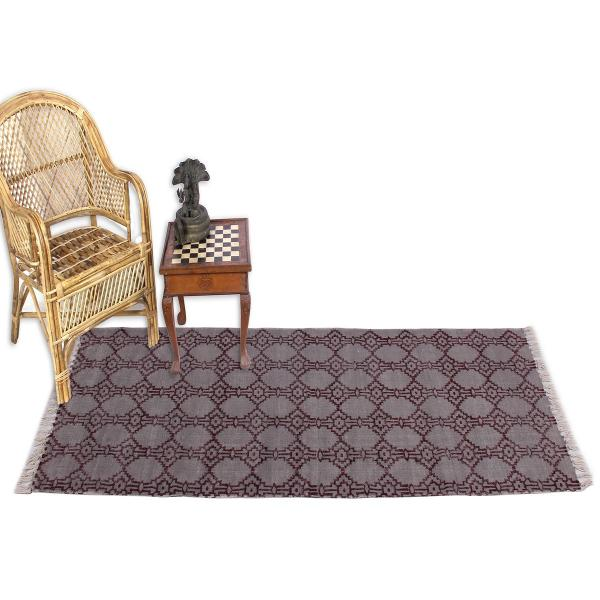 Jaipur Textile Hub Block Printed Cotton Large Natural Washable Rug Carpet Yoga Mats (AMBER)